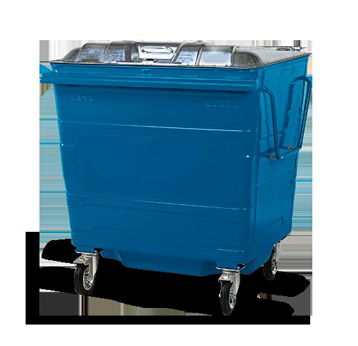 Steel lid bin