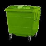 Steel lid bin Green