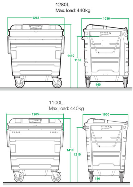 Steel lid container specification image